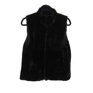 Cejon faux fur vest. Black. Size Medium.